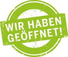 Grüner Button Siegel Wir Habe...