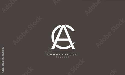 Photo CA AC alphabet letter icon logo design