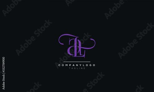 LA AL Letter Logo Design Template Vector Canvas Print