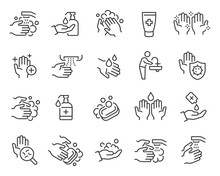 Washing Hands And Hygiene Icon...
