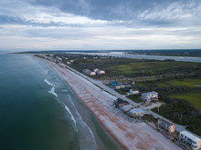 Aerial View Of A Beach On A1A ...