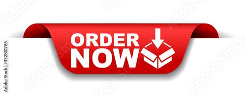 Fototapeta red vector illustration banner order now obraz