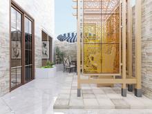 3D Rendering, Pavilions, Beach...