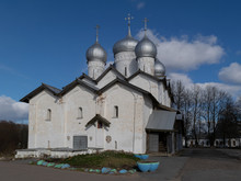 Veliky Novgorod. Church Of Boris And Gleb In Carpenters
