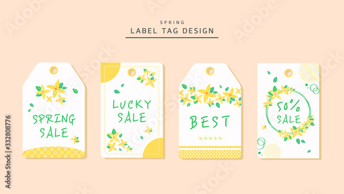 Photo Design tag spring flower label