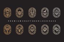 Pack Of Vintage Craft Beer Log...