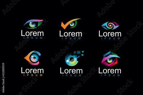 Obraz pack of eye logo icon illustration - fototapety do salonu
