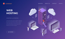 Landing Page For Cloud Web Hos...