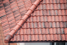 Old Roof With Red Tiles
