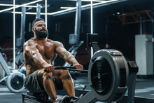 Young Strong Bearded Bodybuild...