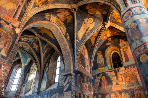 Valokuva Lublin, Poland - Medieval frescoes and architecture inside the Holy Trinity Chap