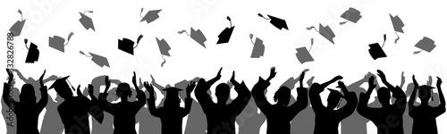Graduation at university, college Canvas Print