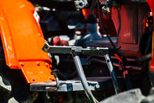 Closeup Of A Tractor