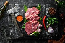 Raw Veal Meat With Parsley And...