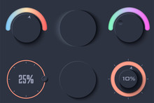 Neumorphic UI Circle Dark Colo...