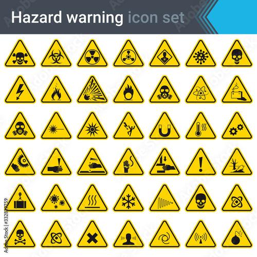 Photo Hazard warning signs