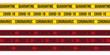 Set of Quarantine yellow and red stripes. Coronavirus and COVID 19.