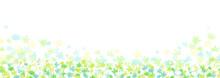 グリーンの花のさわやかな背景イラスト