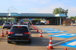 canvas print picture - Jam at the border crossing (from Germany to Basel, Switzerland)