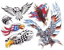 American Eagle Tattoo Flash Set