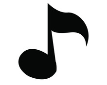 Musical Note Icon In Isolate O...