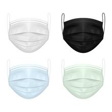 Set Of Medical Masks Of Diffe...