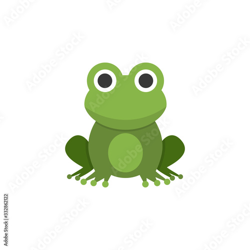 Valokuvatapetti Frog. Flat color icon. Animal vector illustration