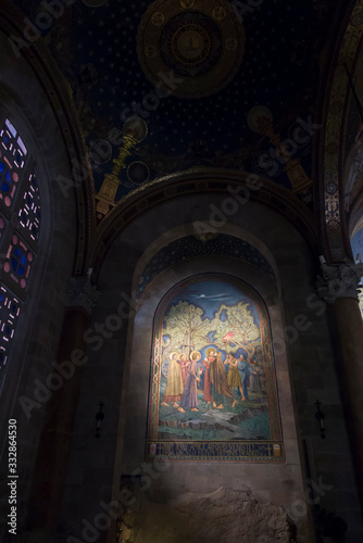 Photo Jerusalem, Israel, January 29, 2020: Interior of the Church of All Nations also known as the Basilica of the Agony