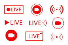 Set Of Live Streaming Icons. S...