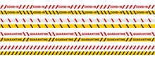 Quarantine Tape Covid-19. Set ...