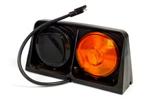 Double Stop And Turn Signal Designed For Installation On Agricultural Machinery, Trucks And Trailers. Background For Automotive Electronics And Light Signals.