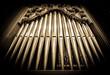 canvas print picture - historic pipe organ