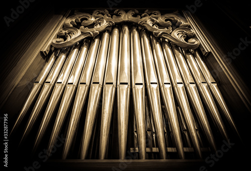 Foto historic pipe organ