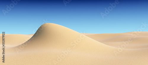 Fototapeta Piasek  smooth-sand-hill-under-clear-blue-sky