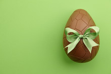 Chocolate Easter Egg With Gree...