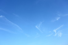 Clear Blue Sky With White Clou...