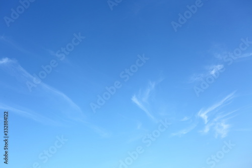 Fototapeta clear blue sky with white cloud in the morning good weather day obraz