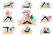 Stay At Home Yoga Routine Illu...
