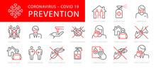 Coronavirus Prevention Vector Illustration Set