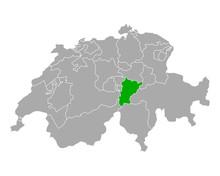 Karte Von Uri In Schweiz