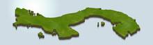 3D Map Illustration Of Panama