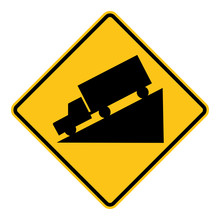 Steep Grade Road Sign Clipart