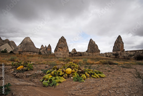 Photo Goreme Valley, Cappadocia, Nevsehir Province in the Central Anatolia Region of Turkey, Asia