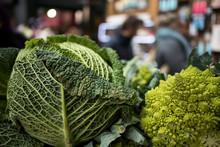 Romanesco Broccoli And Savoy C...