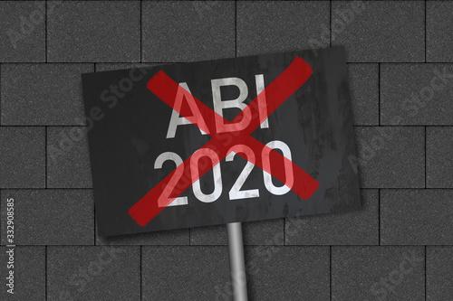 Abitur 2020 durchgestrichen Canvas Print
