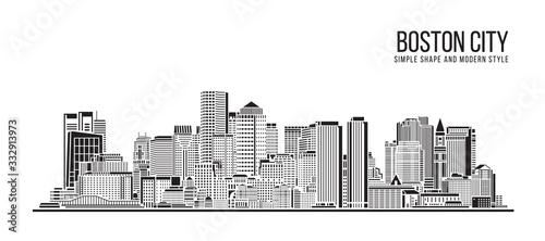 Fotografía Cityscape Building Abstract Simple shape and modern style art Vector design - Bo