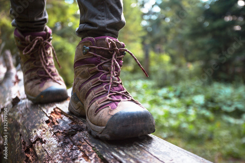 a hiking boots Fototapet
