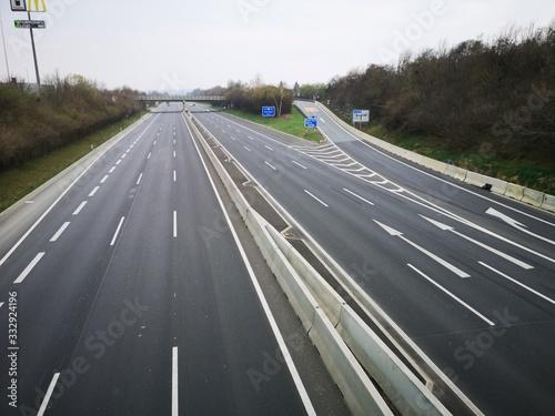 Photo wegen Corona - leere Autobahn - bei Graz