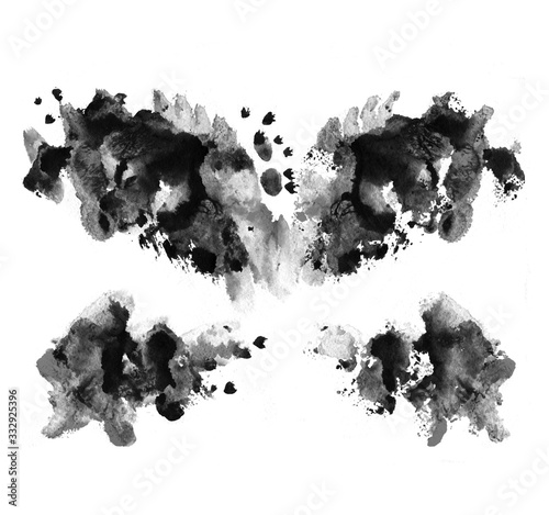 Rorschach test ink blot illustration Wallpaper Mural