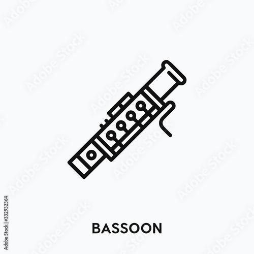 bassoon icon vector. bassoon symbol sign Wallpaper Mural
